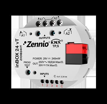 inBOX 24 vT / Многофункциональный актуатор с 2 выходами и 4 аналогово/цифровыми входами