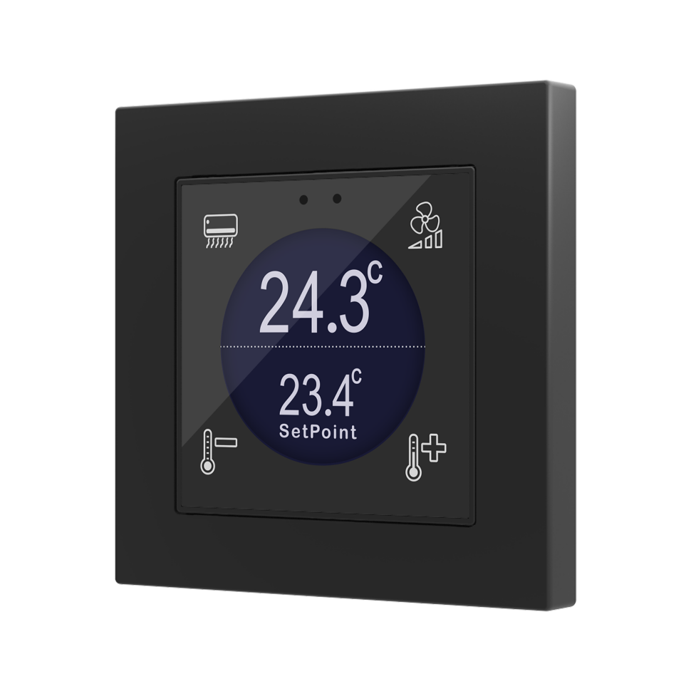 Flat 55 Display / Выключатель KNX сенсорный с дисплеем (стандарт рамки 55x55мм)